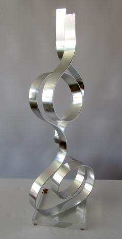 Dan Murphy American Modern Abstract Expressionist Polished Steel Sculpture Dan Murphy - 1326596