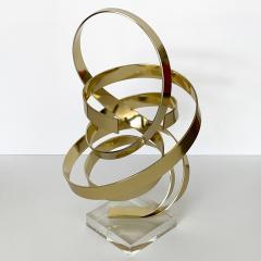 Dan Murphy Dan Murphy Gold Tone Abstract Ribbon Sculpture - 1055891