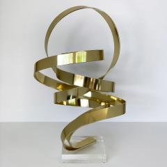 Dan Murphy Dan Murphy Gold Tone Abstract Ribbon Sculpture - 1055893