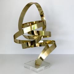 Dan Murphy Dan Murphy Gold Tone Abstract Ribbon Sculpture - 1055894