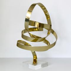 Dan Murphy Dan Murphy Gold Tone Abstract Ribbon Sculpture - 1055896