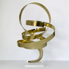 Dan Murphy Dan Murphy Gold Tone Abstract Ribbon Sculpture - 1055898