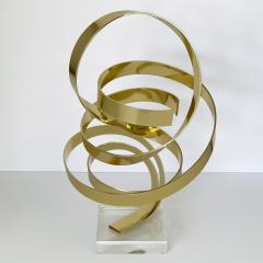 Dan Murphy Dan Murphy Gold Tone Abstract Ribbon Sculpture - 1055899