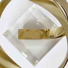 Dan Murphy Dan Murphy Gold Tone Abstract Ribbon Sculpture - 1055900