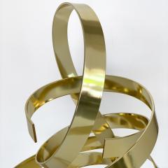 Dan Murphy Dan Murphy Gold Tone Abstract Ribbon Sculpture - 1055901