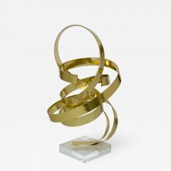 Dan Murphy Dan Murphy Gold Tone Abstract Ribbon Sculpture - 1056242