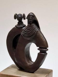 Dan Namingha Kachina Man and Woman - 1670219