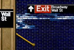 Daniel E Greene Wall St Yellow Railing - 134851
