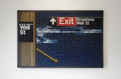 Daniel E Greene Wall St Yellow Railing - 134852