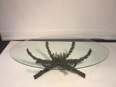 Daniel Gluck Brutalist Bronze Sculptural Coffee Table by Daniel Gluck - 429686