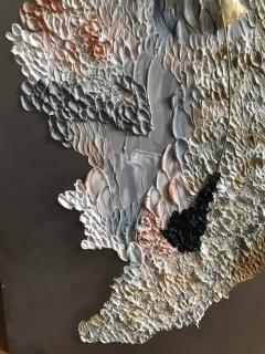 Daniela Busarello INNER LANDSCAPE IL XXVII Oil cold Wax and dried flower on steel mat - 729118
