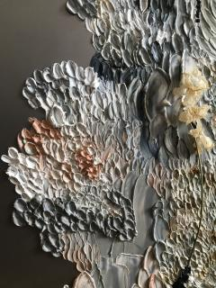 Daniela Busarello INNER LANDSCAPE IL XXVII Oil cold Wax and dried flower on steel mat - 729119
