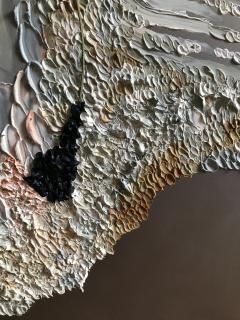 Daniela Busarello INNER LANDSCAPE IL XXVII Oil cold Wax and dried flower on steel mat - 729120