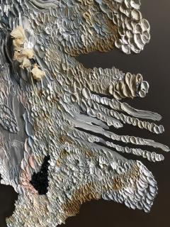 Daniela Busarello INNER LANDSCAPE IL XXVII Oil cold Wax and dried flower on steel mat - 729121