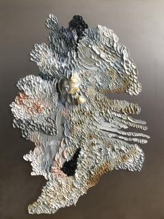 Daniela Busarello INNER LANDSCAPE IL XXVII Oil cold Wax and dried flower on steel mat - 729122