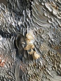 Daniela Busarello INNER LANDSCAPE IL XXVII Oil cold Wax and dried flower on steel mat - 729123