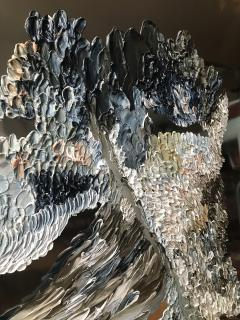 Daniela Busarello INNER LANDSCAPE XX Oil cold Wax on polished steel - 729134