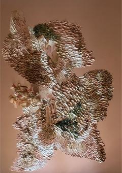 Daniela Busarello Inner Landscapes XXII Oil and Peonias on Copper - 639762