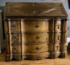 Danish 18th century Baroque oak bureau Writing Desk - 1324963