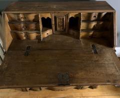 Danish 18th century Baroque oak bureau Writing Desk - 1324964