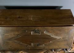 Danish 18th century Baroque oak bureau Writing Desk - 1324965