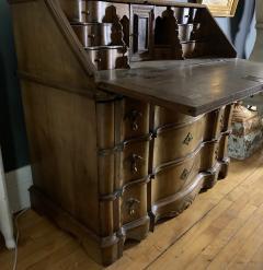 Danish 18th century Baroque oak bureau Writing Desk - 1324966