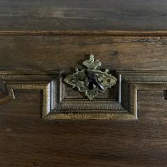 Danish 18th century Baroque oak bureau Writing Desk - 1324968