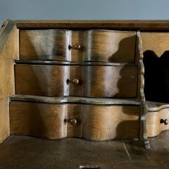 Danish 18th century Baroque oak bureau Writing Desk - 1324970