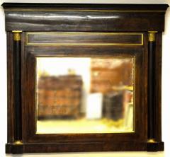 Danish Empire Overmantel Mirror of Mahogany - 1989579