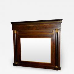 Danish Empire Overmantel Mirror of Mahogany - 1995255