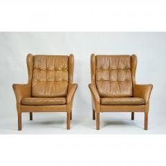 Danish Leather High Back Chairs - 1753672