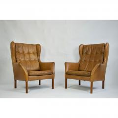 Danish Leather High Back Chairs - 1753674