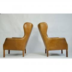Danish Leather High Back Chairs - 1753698