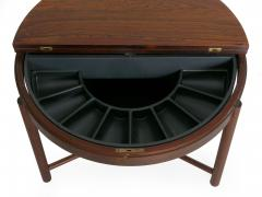 Danish Mid Century Modern Rosewood Cocktail Serving Table w Ice Bucket - 1166751