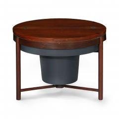 Danish Mid Century Modern Rosewood Cocktail Serving Table w Ice Bucket - 1166755