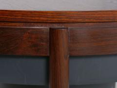 Danish Mid Century Modern Rosewood Cocktail Serving Table w Ice Bucket - 1166760