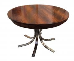 Danish Mid Century Rosewood and Chrome Table - 1379572