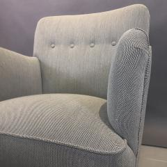 Danish Mid Century Upholstered Armchair Kvadrat Upholstery - 1746471