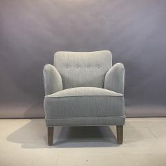 Danish Mid Century Upholstered Armchair Kvadrat Upholstery - 1746472
