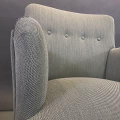 Danish Mid Century Upholstered Armchair Kvadrat Upholstery - 1746473
