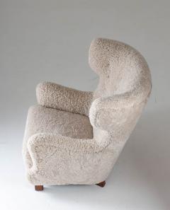 Danish Mid century Lounge Chair in Sheepskin 1940s - 1620285