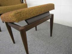Danish Modern Scoop Arm Walnut Lounge Chair with Adjustable Ottoman - 1877306