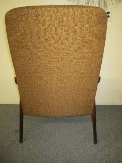 Danish Modern Scoop Arm Walnut Lounge Chair with Adjustable Ottoman - 1877309