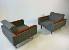 Danish Modern Sleek Low Lounge Chairs - 388102