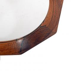 Danish design Octagonal rosewood mirror 1960s - 1573204
