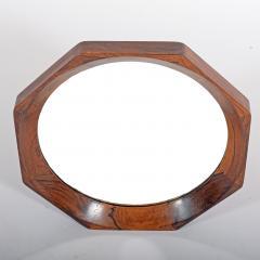 Danish design Octagonal rosewood mirror 1960s - 1573205
