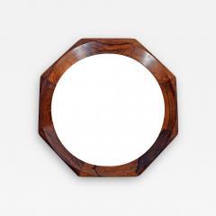 Danish design Octagonal rosewood mirror 1960s - 1573754