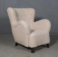 Danish furniture manufacturer Armchair with stool 2  - 2127194