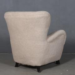 Danish furniture manufacturer Armchair with stool 2  - 2127196