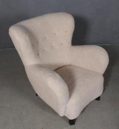 Danish furniture manufacturer Armchair with stool 2  - 2127197